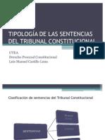 TIPOLOGÍA DE LAS SENTENCIAS DEL TRIBUNAL CONSTITUCIONAL