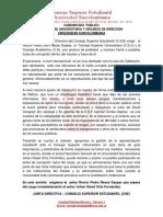 Comunicado Público CSE - caso Secretaría General