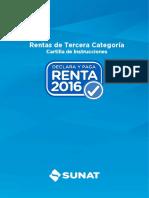 Cartilla Instrucciones Renta Empresas 2016