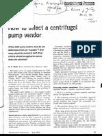 How to Select a Centrifugal Pump Vendor - HCP - 1978