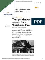 Trump's Desperate Search for a 'Reichstag Fire' _ USA _ Al Jazeera