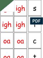 Phoneme Igh and Oa Word Card