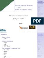 Aula05 - Introdução à Administração de Sistemas Linux