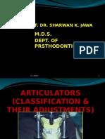 Articulators, Classification&Adjustment