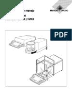 Manual Microbalanza Mettler Toledo AX26