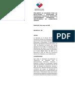 Decreto Nº 160 Sec 2009