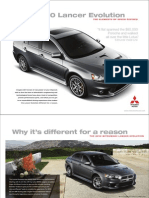 2010 Mitsubishi Lancer Evolution Brochures (US)