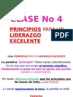 Clase No 4 Pricipio Para Un Liderazgo Exelente