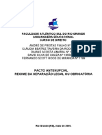 Pacto antenupcial e separação obrigatória ou legal.