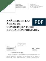 Análisis de Las Áreas de Conocimiento de Educación Primaria