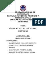 RÉGIMEN ESPECIAL DE SEGURO CAMPESINO