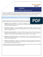 Summary_Choosing the Right Legal Structure