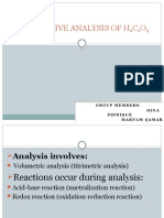 Quantitative Analysis of h2c2o4 and h2so4