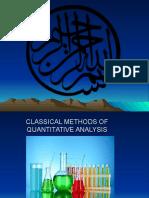 Classical Method of Quatitative Analysis - Atia Tahir