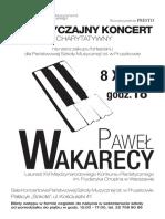 Plakat Wakarecy