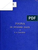 Poona in Bygone Days-Rao Bahudur DB Parasnis
