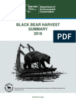 2016 New York bear harvest report