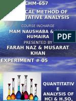 Classical Method of Quatitative Analysis - FARAH KHAN