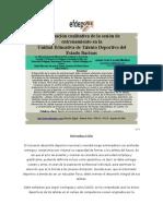 Evaluación Cualitativa de La Sesión de Entrenamiento en La