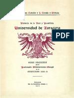 Historia de La Real y Pontificia Universidad de Zaragoza, Tomo I