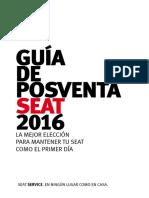 Guia Posventa Seat 2016