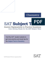 Chemistry Sat Subject Tests Answer Explanations Revised