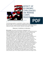 Effect of Economic Challenges on Marine Corps Readiness