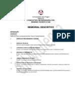Memorial Descritivo - Habit-equip Modelo