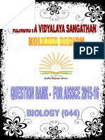 Question Bank in Biology Class XII