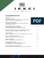 Nikkei food menu