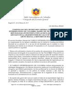 Comunicado de Protesta por Declaraciones del Abogado de la Arquidiocesis de Cali - Abuso Sexual a Menores