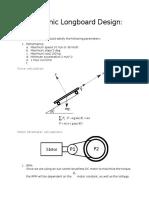 Electronic Longboard Design