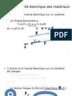 Chap1 Conductivité Électrique Des Matériaux