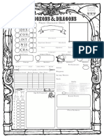 Old School 5E D&D Character Sheet
