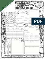 Old School 5E D&D Character Sheet