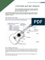 Gitarre Die Ersten Schritte