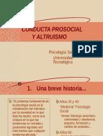 Altruismo y Conducta Prosocial