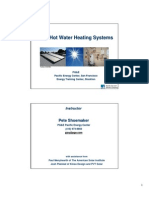 Presentation Solar Water Heating