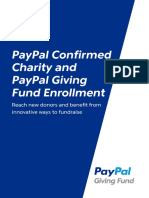 Paypal Giving Fund Enrollment Guide