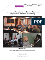 (U-FOUO) Joint Center for International Security Force Assistance Guide- Roles and Functions of Senior Advisors.pdf