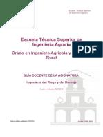 Guia Docente 109303104 - Ingenieria Del Riego y Del Drenaje - Curso 1314