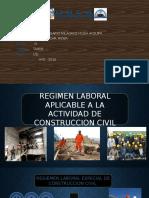 Regimen Laboral Aplicable a La Actividad de Construccion Civil