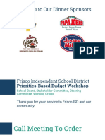 Presentation on Frisco ISD priorities-based budget workshop Feb. 9, 2017