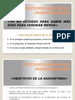 Metodología de La Investigación Parcial I