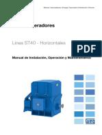 WEG Turbogeneradores St40 Horizontales 12582257 Manual Espanol