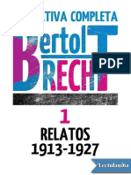 Relatos 1 (1913-1927) - Bertolt Brecht