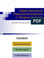 Digital Instructional Resource Development in Tsinghua University in Beijing