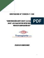 002 Pliego de Condiciones Inv. 120820-T-143