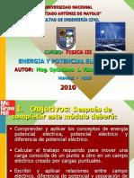 Energia y Potencial Electrico 2010-II