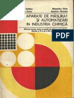 Aparate de masurat si automatizari in industria chimica - Ed. Didactica si Pedagogica, Bucuresti - 1980.pdf